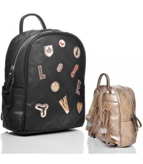 Backpack With Patches Metalized