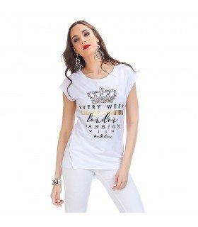 T-Shirt Coroa De Rainha Com Pedras