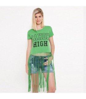 Camiseta Con Flecos
