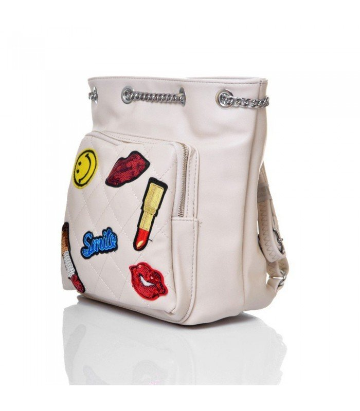 Backpack Bag With Patches
