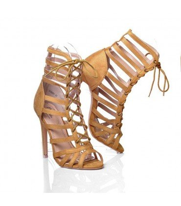 Heel Sandal With Strips