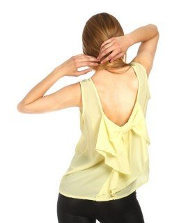 Top Chiffon Back Tie