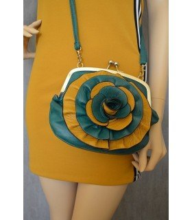 Bag Shoulder Bag Flower Bicolor