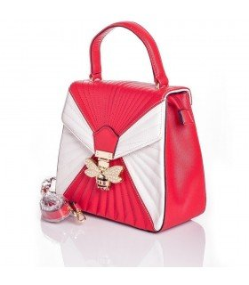 Backpack Bicolor with Bee with Pearls