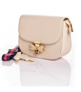 Shoulder bag Bee with Pearls