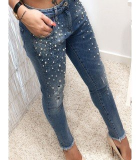 Jeanss With Pearls