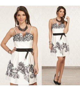 Vestido Elegante Flores