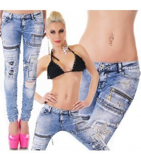 Jeanss With Patches YCremalleras