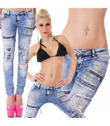 Jeanss With Patches And Zips