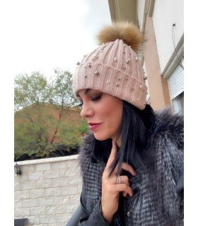 Beanie hat with Natural Hair Removable