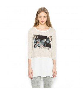 T-shirt com Chiffon