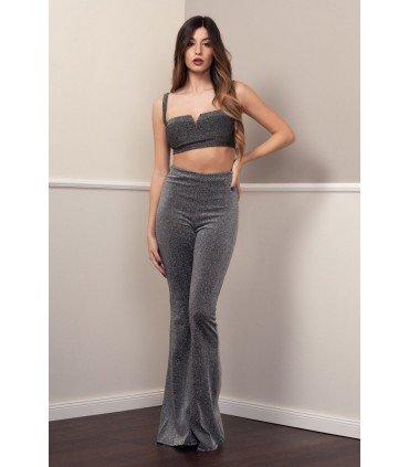 Pants Hood of Shiny Fabric