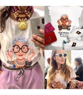 T-shirt de algodão NÃO SOU PERFEITO, SOU EDIÇÃO LIMITADA