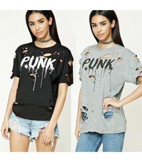 T-shirt Rasgada PUNK