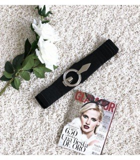 Cinturon Negro Elastico