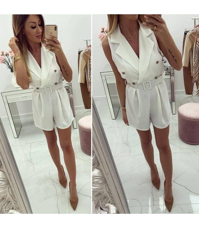 Jumpsuit Short Style Trench Coat