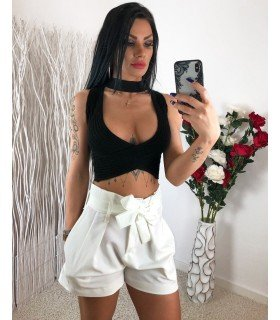 Short Cintura e Cinto Shirred