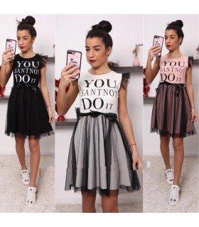 Short dress with Skirt of Tull