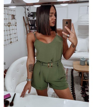 Set Top And Short With Belt