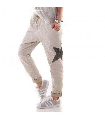 Pantalon Largo Estrella Lateral