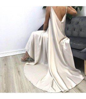 Vestido Largo Raso