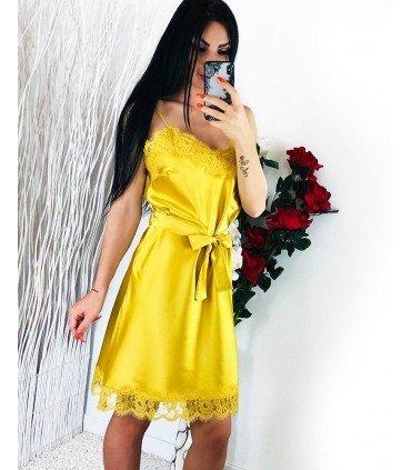 Dress Satin Lencero