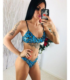 Bikini Brillo Estampado Leopardo