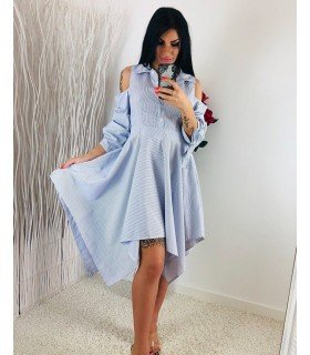 Vestido Rayas Falda Asimetrica
