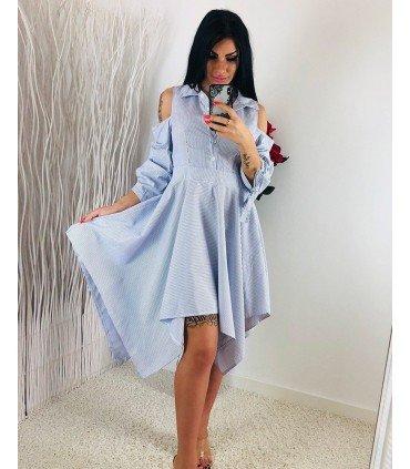 Dress Stripes Asymmetrical Skirt