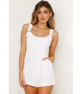 Jumpsuit Pichi Short with Buckle