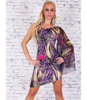 Print Dress Sleeve Chiffon