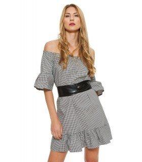Vestido Cuadro Vichy Von Cinturon