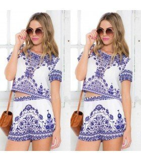 Set Short and Top Short Sleeve Print