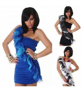 Short dress one Shoulder Ruffle