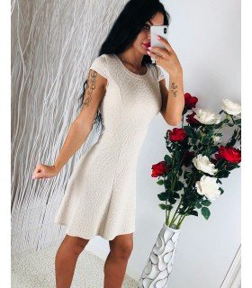 Casual Dress Embossed Flowers