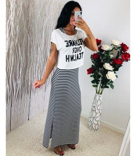 Long dress Stripe 2-in-1