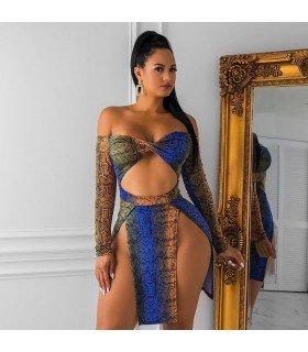 Sexy Vestido de Estampa animal Print