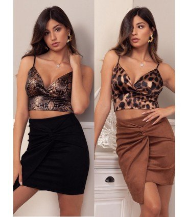 Top Satin Animal Print