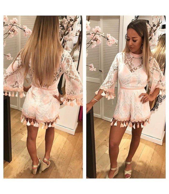 Jumpsuit Elegant Lace with Fringe