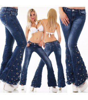 Jeanss Hood with Studs