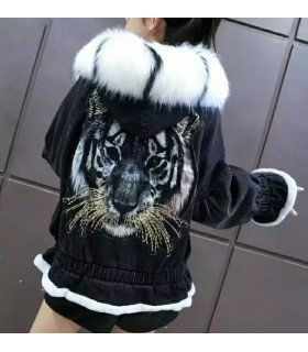 Denim Jacket Hair Tiger