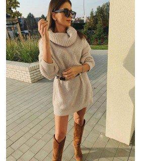 Knit Dress Cowl Neck