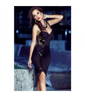 Elegant Dress Lace With Sequins