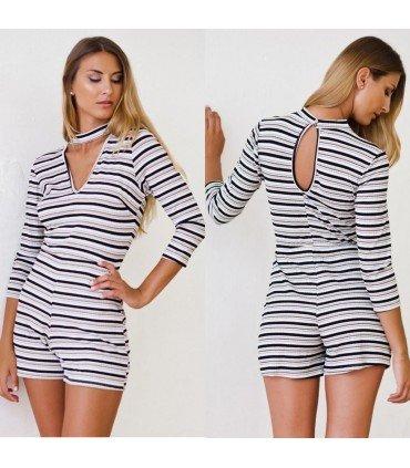 Jumpsuit Canale Long Sleeve Stripes