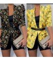 Blazer Floral With Belt