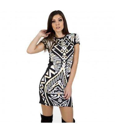 Print Dress Short Sleeve