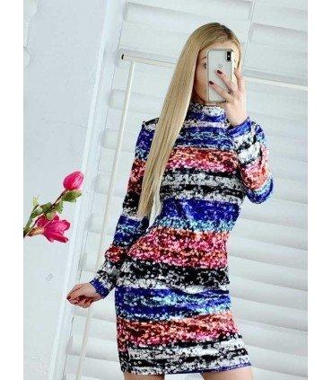 Dress Velvet Printed Sequins