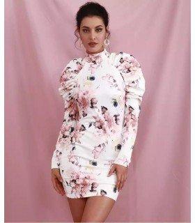 Dress Velvet Shoulder Puff
