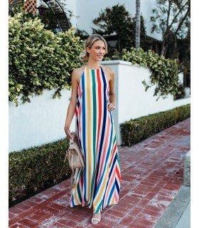 Long Dress Stripes Multicolor