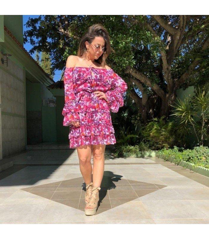 Dress Chiffon Multicolor
